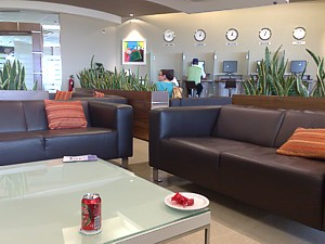 Air Malta MLA Business Class lounge May 2009