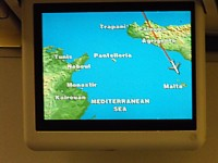 Air Malta Airbus A320 inflight map May 2009