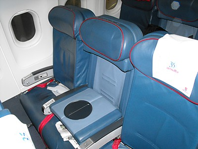 Air Malta Airbus A320 business class seat May 2009