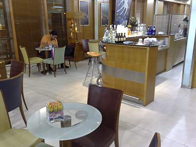 Athens Olympic Airways business class lounge July 2008