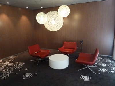 British Airways Sydney Business Class lounge Qantas Club Oct 2011