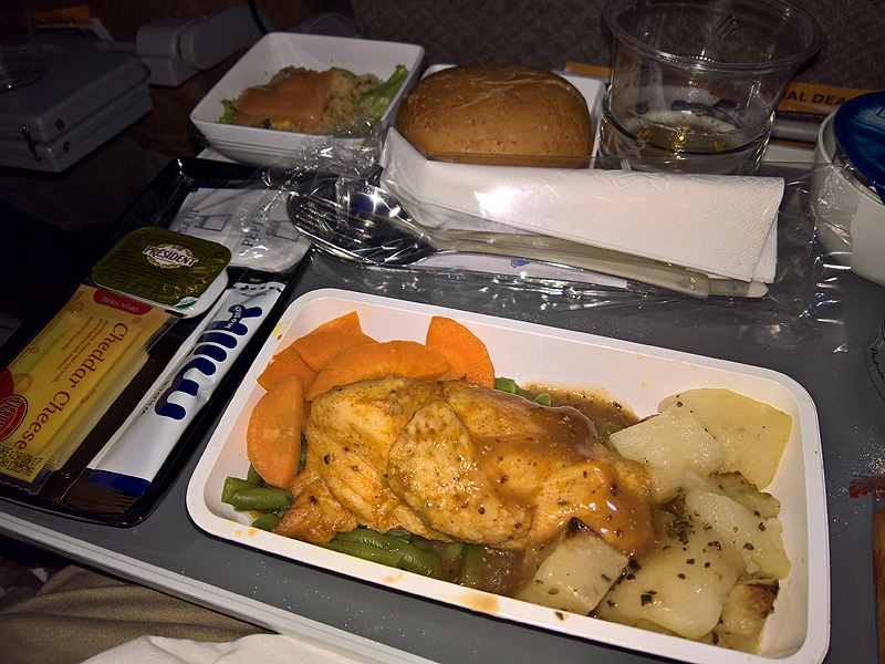 Singapore Airlines Economy Class Meal