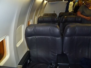 United Continental First Class seat - ex CO seat on a 737 - June 2011